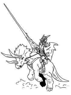SGG-Kobold Knight on Triceratops by ~ProdigyDuck on deviantART