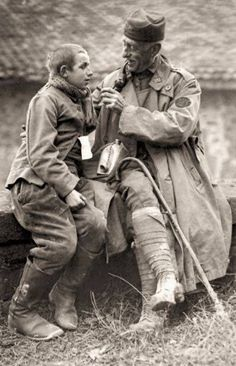A US army chaplain and a young German POW 1918