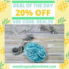 March 10, 2017 click link below. https://www.tropicallyinclined.com/collections/necklaces/products/seahorse-cameo-necklace-and-earring-set