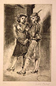 Office Girls, 1938. Isabel Bishop, 1902-1988. Etching