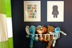 Cute Nursery Decor Next to Glider