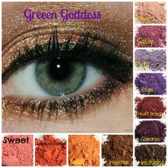 Younique eye pigments for the Green Goddess!