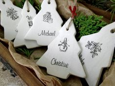 Personalized ornaments Christmas home decor by AntigoniCreations