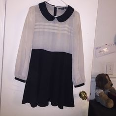 Semi formal dress Some thinning above waist area on white fabric. Overall great condition only worn twice. Forever 21 Dresses Long Sleeve
