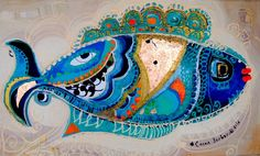 Glass Art on canvas Hamsa Art, Tree Of Life Art, Fish Drawings, Pics Art, Iranian Art, Turkish Art, Science Fiction Art, Art Pages, Collage Art