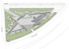 Image 20 of 27 from gallery of National Holocaust Monument / Studio Libeskind. Photograph by doublespace photography Ottawa, Concrete Forms, Exposed Concrete, School Building Design, Ohio, Canadian History, Graduation Project, Site Plans, Memorial Park
