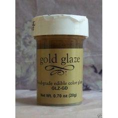 $5.75  Food Grade Edible Color Cake  Fondant Glaze-gold Gold Fondant, Fondant Cakes, Cake Decorating Tips, Cookie Decorating, Color Cake, Colorful Cakes, Sugar Art, Food Gifts