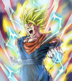 Dragon Ball Z, Dragon Ball Image, Gogeta And Vegito, Super Anime, Good Anime Series, Ball Drawing, Fanart, Son Goku, Artwork