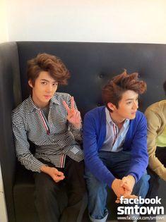 You think Luhan & Sehun look alike? Kim Joon, Kim Min Seok, Xiu Min, Sehun And Luhan, Exo Couple, Exo Fan Art, Kim Jong In, Chanbaek, Exo Ot12