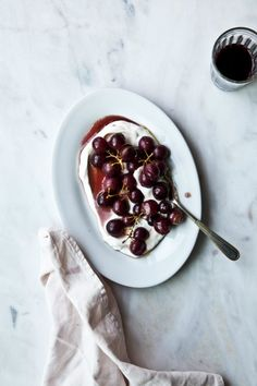 Roasted Grapes with Labneh