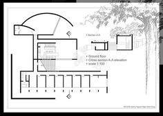 Koshino house plan moreover koshino house site section together with tadao ando… Tadao Ando, Koshino House, Water Temple, Section Drawing, Police Station, Architecture Plan, Page Design, Ground Floor, House Plans