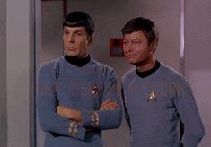 they agree on something. Watch Star Trek, Star Trek Tv, Star Wars, Leonard Mccoy, Stark Trek, Star Trek Images, Star Trek Original Series, Star Trek Universe, Karl Urban
