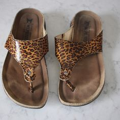 b315fc9289df Mephisto Leopard Print Sandals - 10 In good condition. Bottoms are like  new. The