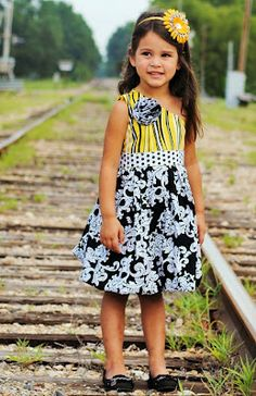 Sewing Patterns for Girls Dresses and Skirts: Sewing Pattern for Girls Bubble Dress,6 months to 10 years, PDF pattern