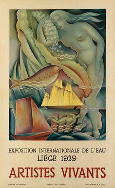 EDGAR SCAUFLAIRE (1893-1960). EXPOSITION INTERNATIONALE DE L''EAU