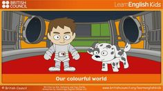 Our colourful world Cambridge English, British Council, English Online, Great Videos, Online Games, Short Stories, Family Guy, Animation, Teaching
