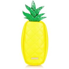 Pineapple Pencil Case ($18) ❤ liked on Polyvore featuring home, home decor, office accessories, black pencil pouch and black pencil case