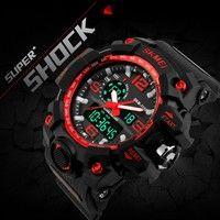 Wish | New SKMEI Digital Watch S SHOCK Men Watch 50m Waterproof Big Dial Date Calendar LED Sports Watches Homme