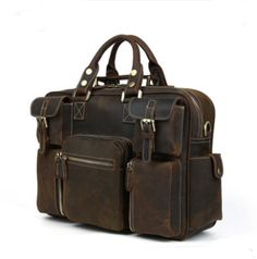 Handmade Leather Holdall/handmade leather bag  (CY38)