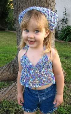 Toddler Halter Top..I think from crochet thread, instead of yarn, though.....