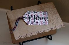 Floral Mothers Day Card, Vintage Tag Card by JessicaElyseDesigns, $6.00