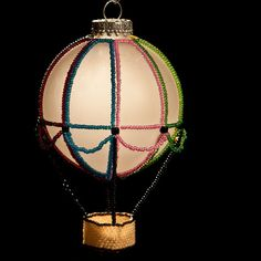 beaded hot air balloon pattern | Hot Air BalloonBeaded Christmas ...