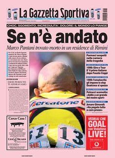 Prima pagina La Gazzetta dello Sport 15 Febbraio 2004