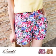 CliPick 的東京著衣 的艷麗花朵反折棉質短褲 http://www.clipick.com/item?sid=132015