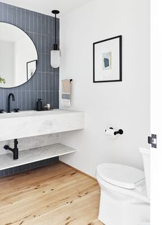 The First Mountain House Bathroom Reveal: Our Quiet Drama Powder Bath | Emily Henderson #bathroomideas #homedesign #style