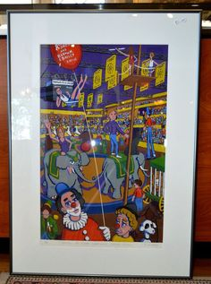 RINGLING BROS. AND BARNUM & BAILEY CIRCUS LIMITED EDITION PRINT-BOSTON GARDEN #PopArt