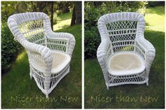 Vintage Wicker  Chair $75 - Toronto http://furnishly.com/catalog/product/view/id/6071/s/vintage-wicker-chair/