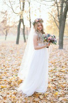 ślubna sesja plenerowa jesienią