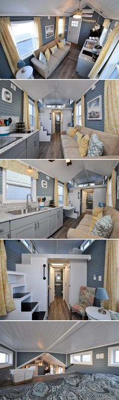 The Laurel is a 24-foot tiny home from Virginia-based Tiny House Building Company. The 272-square-foot home has a king size loft and living room with separate workspace.