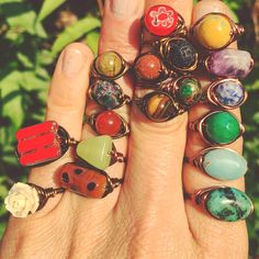 all handmade rings now on sale for only ten bucks each! :)  happy holidays!