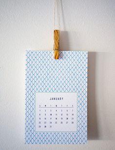 2012 Calendar with Japanese Vintage Patterns by Lemonni on Etsy, $20.00