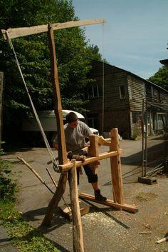 Kicking Pole Lathe by Sean Hellman