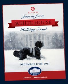 Find out how you can join the White House Holiday Social at http://whitehouse.gov/pinterest