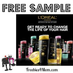 CHOOSE your FREE SAMPLE of L'Oreal Advanced based on your hair concern: damaged, color-treated, or frizzy http://freebies4mom.com/2013/01/15/loreal-3/