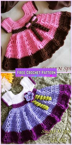 Crochet Sugar N Spice Dress Free Pattern with video