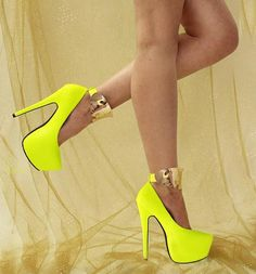 Red Kiss Nicole Metal Ankle Cuff Pumps on Sale . Click to Purchase . #sexy #shoes #heels