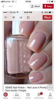 I need this nail polish simply because of the name! :) ESSIE Nail Polish - 'Not Just A Pretty' face Best Nail Polish, Essie Nail Polish, Nail Polish Colors, Nail Nail, Nail Polishes, Chic Nails, Classy Nails, Trendy Nails, Shellac Nail Designs
