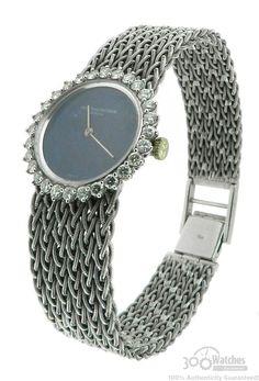Vacheron Constantin 18k White Gold Manual Mechanical Diamond Watch