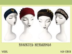 Vividworks Headbands. Felt designs by Den Jones