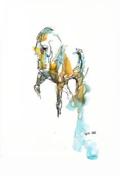 """Saatchi Art Artist Benedicte Gele; Painting, """"Equine Nude 129"""" #art"""