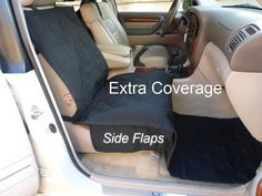 Vehicle Car Van SUV Front Seat Protection Cover for Dog Pet,Extra Coverage,Black