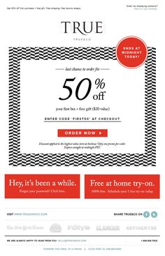 clean e-newsletter design that's still engaging with the use of the pattern.