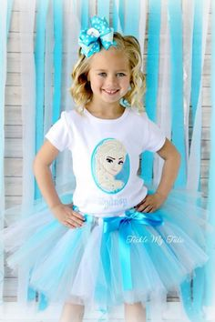 Frozen Inspired Birthday Tutu Outfit - perfect for the birthday girl who is unable to choose between Anna and Elsa. Elsa Birthday Party, Frozen Birthday Theme, Frozen Themed Birthday Party, Birthday Party Outfits, 4th Birthday Parties, Princess Birthday, Girl Birthday, Frozen Party Favors, Turtle Birthday