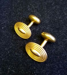 32e5b23441d3 Old Retro Rare Antique 1940s 14k Yellow Gold Cufflinks High Relief 7.6  Gram's Gold Jewelry,