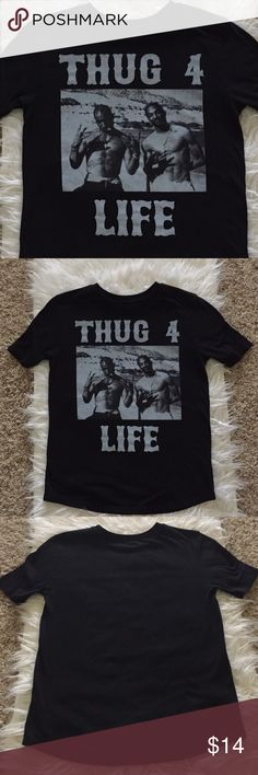 Amazing Tupac&Snoop T-shirt EUC! I absolutely love this shirt, just wish it was a medium! Forever 21 Tops Tees - Short Sleeve