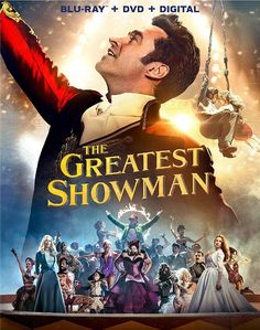 BLU-RAY / DVD: The Greatest Showman. STARRING: Hugh Jackman, Zac Efron, Michelle Williams, Rebecca Ferguson, Zendaya. DIRECTOR: Michael Gracey. WRITER(S): Jenny Bicks, Bill Condon. PRODUCER(S): Laurence Mark, Peter Chernin, Jenno Topping. STUDIO: 20th Century Fox. GENRE: Drama, Biography, Musical. RATING: PG. RUNTIME: 105 Min. FORMAT: Blu-Ray, DVD, Digital HD. RELEASE DATE: 4 / 10 / 2018.